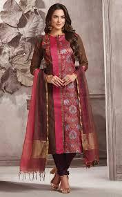 Punjabi Suit With Long Jacket Design Dressline Womens Ethnic Wear Online