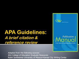 Ppt Apa Guidelines A Brief Citation Reference Review Powerpoint