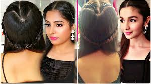 Alia Bhatt Hairstyle alia bhatt inspired hairstyle how to do a heart shaped braid 3057 by stevesalt.us