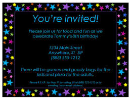 Birthday Invitation Design Templates Fascinating Birthday Party Invitation With Stars Design