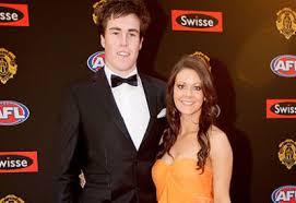 Jeremy Cameron and partner Katie Barker