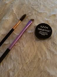i really would remend the nyx tame frame brow pomade because its so pigmented and long lasting and just feels like a high end