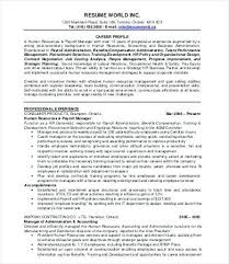 Hr Manager Resume Sample From Hr Resume Template Human Resources Hr Inspiration Resume Resources
