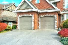 image of garage front door colors that go with red brick