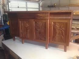 Kitchen Cabinet Shells Wood Carved Panels Cabinets Bird Of Paradise Carved Tropical