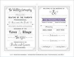 Fun Wedding Programs Fun Wedding Programs Templates Funny Program Printable