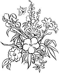 Flower Coloring Pages Flowers Free Printable 5 For Preschoolers