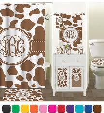 Cow Print Shower Curtain Personalized Potty Training Concepts Cowhide Print Shower Curtain