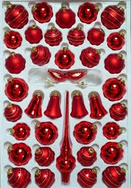 Christbaumschmuck Sortimentskasten Rot M Spirale 39 Tlg