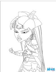 Small Picture Coloring Pages Draculaura Monster High Dolls Coloring Pages