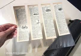 laminating book pages by 1 minute love notes via i love that junk