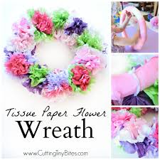 Christmas Paper Flower Wreath Tissue Paper Flower Wreath What Can We Do With Paper And Glue