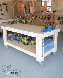 if this workbench looks familiar you have probably seen it in our s whitney has this full size version and ashley built a more narrow version for her