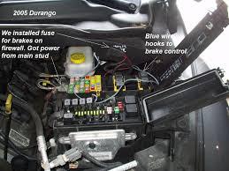 2005 hemi dodge durango trailer brake controller install jeep grand cherokee fuse box location at 2005 Jeep Grand Cherokee Fuse Box