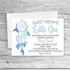 Dream Catcher Baby Shower Invitations Amazon Set of 100 Dream Catcher Baby Shower Invitation 30