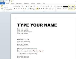 how to create my own resume format to make a resume how to create