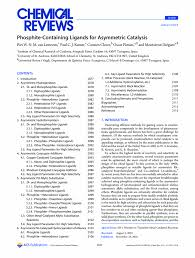 Phosphite Containing Ligands For Asymmetric Catalysis Chemical Reviews