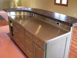radius stainless steel countertop