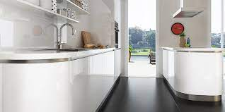 Modern Small Galley Kitchen In White Color Op16 A03 Oppein The Largest Cabinetry Manufacturer In Asia