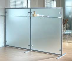 floor mounted office divider glass modular