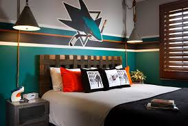 Example of a mid-sized trendy boy kids' room design in San Diego with