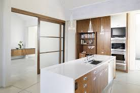 view in gallery translucent sliding door for the curated contemporary kitchen design benning design ociates