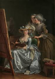 women in  self portrait two pupils by adelaide labille guiard 1785 the two pupils are marie capet and carreaux de rosemond beginning in the late 18th century