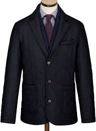 Charles Tyrwhitt Navy Made In England Wool Quilted Blazer | Where ... & ... Charles Tyrwhitt Navy Made In England Wool Quilted Blazer ... Adamdwight.com