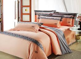 amazing asian cherry blossom 100 cotton bedding sets in grey orange and within orange and grey comforter