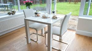 small white gloss dining table and cantilever chairs kitchen sets washed oak fern set