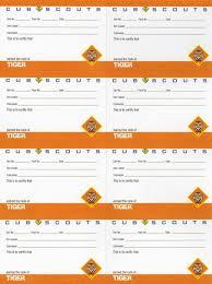 Tiger Pocket Certificates 8 Sheet