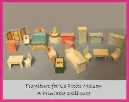 Paper Crafts made with paper Mini Quarter Scale Furniture
