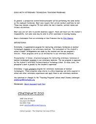 Sample Cover Letter For Resume Veterinary Assistant Best Veterinary