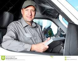 Handsome Truck Driver Stock Image Image Of Adult Moving 35581649