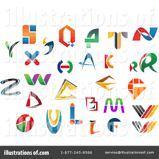Logo Design Samples For Alphabets Letters Clipart 1112015 Illustration By Vector Tradition Sm