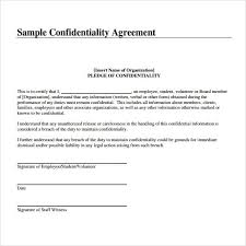 Confidentiality Agreement Samples Confidentiality Agreement Samples Template Sample Resume Resume