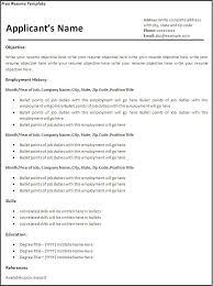 making a free resume