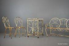 wrought iron garden furniture antique. vintage french garden furniture set wrought iron patio chairs bench antique