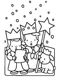 Kleurennu Zingende Kindjes Voor Kerst Kleurplaten