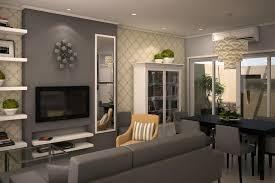 Living Room. Pretty Grey Interior Design Ideas From Manila With Chic Sofa  Set And Pretty