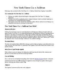 New York Times V Sullivan Landmark Supreme Court Decisions New York Times V Sullivan Freedom Of Press