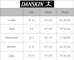 Child Leotard Size Chart Dance Etc Danskin Childrens Tight Size Chart
