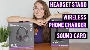 BRIONY with <b>Cooler Master</b> GS750 <b>Headset</b> Stand and MH751 ...