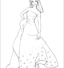 Barbie Doll Coloring Pages Barbie Pictures To Color Also Barbie