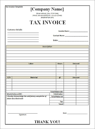 Professional Invoice Template Word Tax Invoice Template Word 8 Invoice Template Invoice Sample