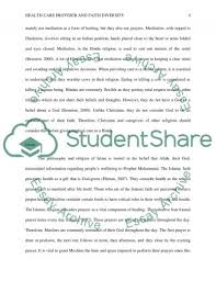 health care provider and faith diversity essay example topics   diversity essay example text preview