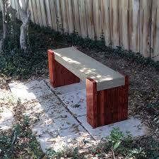 Small Picture outdoor concrete bench plans benches and seating Pinterest