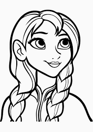 Small Picture Coloring Pages Anna Frozen Coloring Page Printable Anna And Elsa
