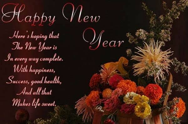 happy new year messages in english
