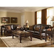 brown living room. North Shore - Dark Brown Living Room Set